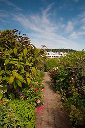 Formal Garden at Roche Harbor, San Juan Island, Washington, US