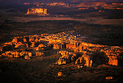 Aerial image of Acoma Pueblo, New Mexico, American Southwest by Randy Wells