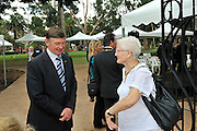 The Governor of Western Australia, His Excellency Malcolm McCusker AC CVO, with Rachel Blythe, great great grand-daughter of James Stirling
