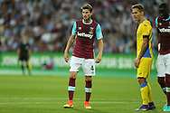 Havard Nordtveit of West Ham United looks on. UEFA Europa league, 3rd qualifying round match, 2nd leg, West Ham Utd v NK Domzale at the London Stadium, Queen Elizabeth Olympic Park in London on Thursday 4th August 2016.<br /> pic by John Patrick Fletcher, Andrew Orchard sports photography.