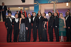 Adele Romanski, Michael Perry, producers Julio Perez, Mike Gioulakis, director David Robert Mithcell, Annie Mitchell, Topher Grace, Chris Bender and Lucy Kitada, Jake Weiner attending the premiere of the film Under The Silver Lake during the 71st Cannes Film Festival in Cannes, France on May 15, 2018. Photo by Julien Zannoni/APS-Medias/ABACAPRESS.COM