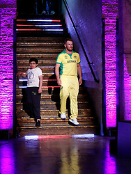 Australia's Aaron Finch before the press conference during the Cricket World Cup captain's launch event at The Film Shed, London.