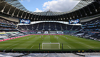 A general view of the stadium as the players take a knee<br /> <br /> Photographer Rob Newell/CameraSport<br /> <br /> The Premier League - Tottenham Hotspur v Aston Villa - Wednesday 19th May 2021 - Tottenham Hotspur Stadium - London <br /> <br /> World Copyright © 2021 CameraSport. All rights reserved. 43 Linden Ave. Countesthorpe. Leicester. England. LE8 5PG - Tel: +44 (0) 116 277 4147 - admin@camerasport.com - www.camerasport.com