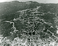 1924 Aerial of Hollywoodland sign