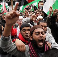 Protest outside Israeli Embassy against killing of people on Gaza flotilla London, UK, 31/5/10