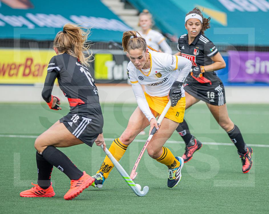 AMSTELVEEN -   Pien Sanders (DenBosch)  tijdens  de hoofdklasse hockey competitiewedstrijd dames, Amsterdam-Den Bosch (0-1)  COPYRIGHT WORLDSPORTPICS KOEN SUYK