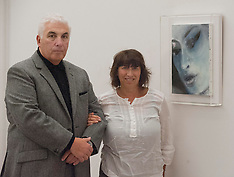 NOV 26 2012 Mitch and Janice Winehouse with new portrait of daughter Amy