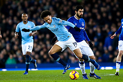 Leroy Sane of Manchester City takes on Andre Gomes of Everton - Mandatory by-line: Robbie Stephenson/JMP - 06/02/2019 - FOOTBALL - Goodison Park - Liverpool, England - Everton v Manchester City - Premier League