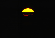 Green flash and big sun setting, Mount Washington