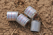 Tear gas canisters used by the Israeli Defence Force (IDF). Photographed on the Israeli Gaza border