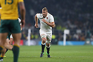 Chris Robshaw, the England captain in action. Rugby World Cup 2015 pool A match, England v Australia at Twickenham Stadium in London, England  on Saturday 3rd October 2015.<br /> pic by  John Patrick Fletcher, Andrew Orchard sports photography.