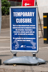 © Licensed to London News Pictures. 04/08/2021. London, UK. THE MARBLE ARCH MOUND is closed for repairs after closing two days of opening. London's latest £2 million attraction was to generate tourism and trade to Oxford Street. Instead, visitors have criticised the project as a major flop. Photo credit: Ray Tang/LNP