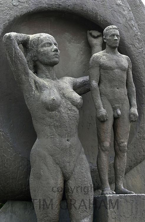 'The Boat and the Breaker' war memorial at Akershus Castle, Oslo, Norway.