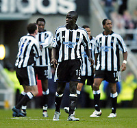 Fotball<br /> FA-cup 2005<br /> Newcastle v Coventry<br /> 29. januar 2005<br /> Foto: Digitalsport<br /> NORWAY ONLY<br /> Newcastle's Amdy Faye put in an excellent performance on his debut.