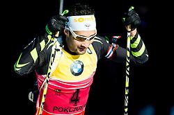 FOURCADE Martin (FRA) competes during Men 12,5 km Pursuit at day 3 of IBU Biathlon World Cup 2014/2015 Pokljuka, on December 20, 2014 in Rudno polje, Pokljuka, Slovenia. Photo by Vid Ponikvar / Sportida