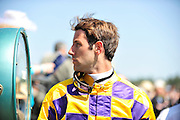 27 March 2010 : Jacob Roberts stands on the scale after riding in the Camden Plate Maiden Hurdle race.