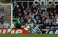 Credit: Back Page Images / Matthew Impey. Newcastle United v Fulham, FA Premiership, 7/11/2004. Steed Malbranque scores the 2nd goal for Fulham.