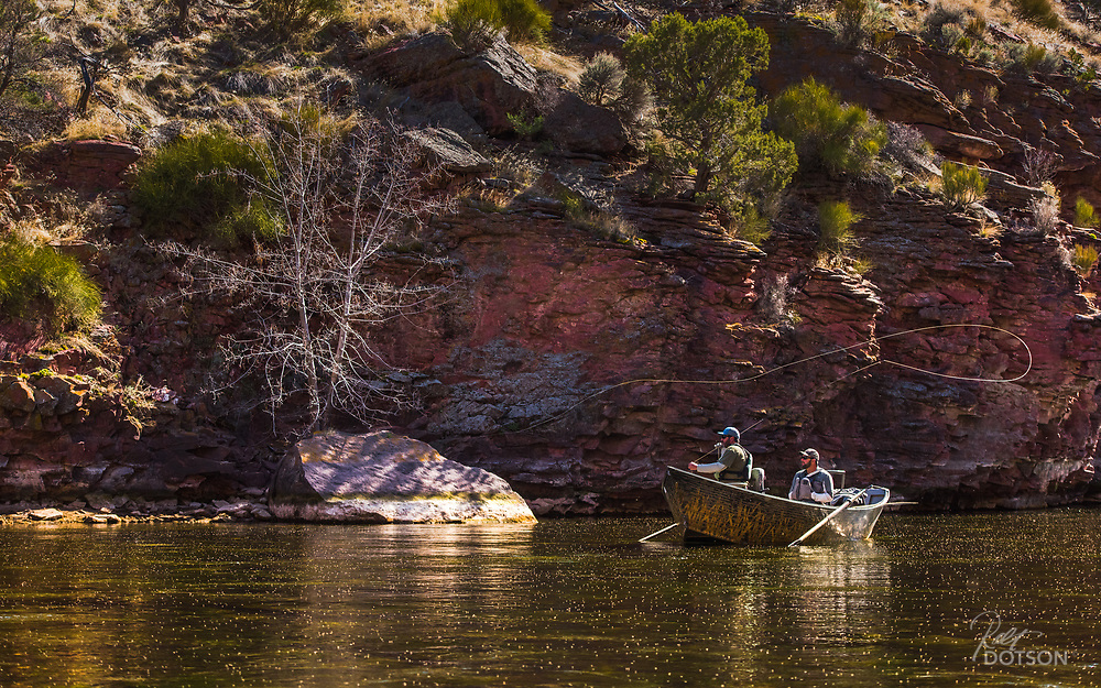 Midges by the thousands erupt on Utah's Green River.