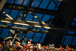 July 11, 2018 - Moscow, Russia - 180711 Audience is seen in the sunlight at the stands prior to the FIFA World Cup semi final match between Croatia and England on July 11, 2018 in Moscow..Photo: Petter Arvidson / BILDBYRÃ…N / kod PA / 92085 (Credit Image: © Petter Arvidson/Bildbyran via ZUMA Press)