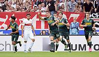 Fotball<br /> Tyskland<br /> 26.09.2015<br /> Foto: Witters/Digitalsport<br /> NORWAY ONLY<br /> <br /> 0:1 Jubel v.l. Mahmoud Dahoud, Torschuetze Granit Xhaka, Håvard Nordtveit, Patrick Herrmann (Gladbach), Emiliano Insua (Stuttgart, 2.v.l.)<br /> <br /> Fussball Bundesliga, VfB Stuttgart - Borussia Mönchengladbach