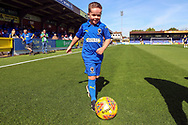Mascot during the EFL Sky Bet League 1 match between AFC Wimbledon and Shrewsbury Town at the Cherry Red Records Stadium, Kingston, England on 14 September 2019.