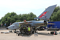 Panavia Tornado GR4, RAF100 Aircraft Tour London, Horse Guards, Whitehall, Westminster, London, UK, 01 July 2018, Photo by Richard Goldschmidt, To celebrate the Centenary of the Royal Air force The RAF100 Aircraft Tour is a public display of iconic RAF aircraft in city locations around the country.