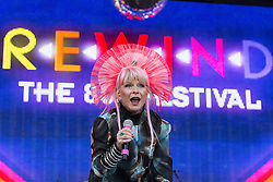 © Licensed to London News Pictures . 08/08/2015 . Siddington , UK . TOYAH WILCOX on stage at The Rewind Festival of 1980s music , fashion culture at Capesthorne Hall in Macclesfield . Photo credit: Joel Goodman/LNP