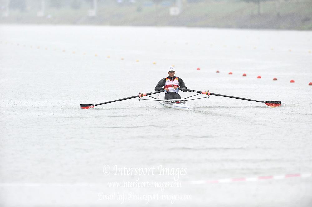 Racice, CZECH REPUBLIC.  GER JW1X. Judith SIEVERS. 2010 FISA Junior World Rowing Championships. Saturday,  07/08/2010.  [Mandatory Credit Peter Spurrier/ Intersport Images]