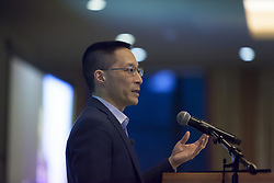 May 3, 2019 - Seattle, Washington, U.S - Seattle, Washington: Author and co-founder of Citizen University ERIC LIU gives a convocation at the Crosscut Festival's keynote. The two-day event featured conversations with journalists, politicians, authors and other civic, business and cultural leaders taking on the most important issues of our times. (Credit Image: © Paul Christian Gordon/ZUMA Wire)