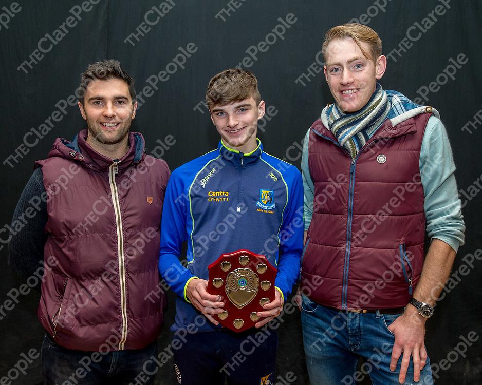 Seamus O'Connell with Sixmilebridge Senior Hurlers Paudi Fitzgerald and Alex Morey