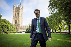 © Licensed to London News Pictures. 10/08/2021. London, UK. Education Secretary GAVIN WILLIAMSON is seen during a media interview in Westminster, London on the morning that A-Level exam results are released. Photo credit: London News Pictures