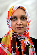 Sudanese writer Leila Aboulela is pictured at the Edinburgh International Book Festival prior talking about her acclaimed novel entitled Minaret. The Edinburgh International Book Festival is the world's largest literary event, with over 500 authors from across the world participating each year and ran from 13-29 August. Edinburgh was named the world's first UNESCO City of Literature in 2004.