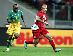 12.10.2012, Nationalstadion, Warschau, POL, FIFA WM Qualifikation, Polen vs Republik Sued Afrika, im Bild KAMIL GROSICKI POL //, KAMIL GROSICKI POL // during FIFA World Cup Qualifier Match between Poland and Republic South Africa at the National Stadium, Warsaw, Poland on 2012/10/12. EXPA Pictures © 2012, PhotoCredit: EXPA/ Newspix/ Michael Nowak..***** ATTENTION - for AUT, SLO, CRO, SRB, SUI and SWE only *****