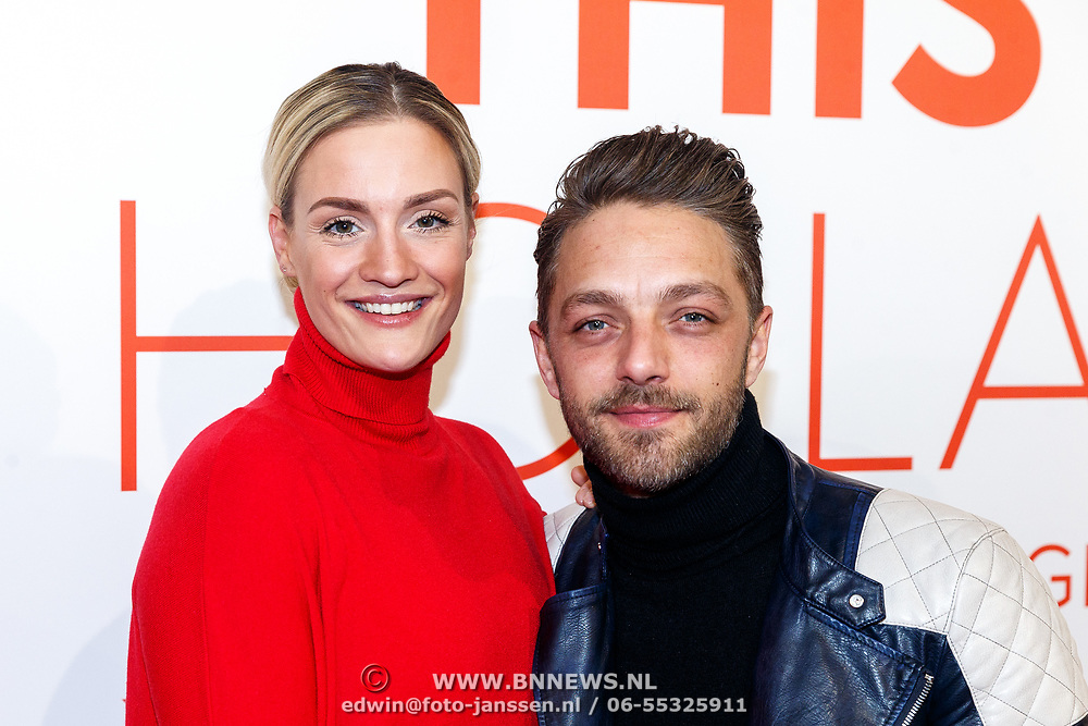 NLD/Amsterdam/20180201 - Presentatie This is Holland, Michelle Splietelhof met partner Tommy Christiaan
