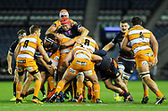Grant Gilchrist in the thick of the action during the Guinness Pro 14 2018_19 match between Edinburgh Rugby and Toyota Cheetahs at BT Murrayfield Stadium, Edinburgh, Scotland on 5 October 2018.