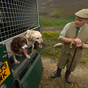 ANGUS, SCOTLAND AUG 10  In the build up of the Glorious 12th, the official start of the red grouse shooting season (this year Monday 13th August) the gamekeepers of the estate make the final checks and preparations Gavin Hannam Gamekeeper