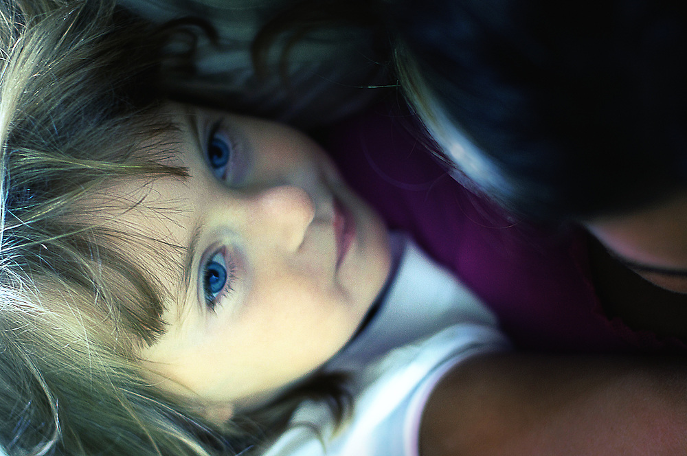 Portrait of young girl in thought.