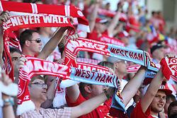 20.07.2013, Coface Arena, Mainz, GER, Testspiel, 1. FSV Mainz 05 vs West Ham United, im Bild Schal zum Testspiel der Fankurve,,  // during the Friendly Match between 1. FSV Mainz 05 and West Ham United at the Coface Arena, Mainz, Germany on 2013/07/20. EXPA Pictures © 2013, PhotoCredit: EXPA/ Eibner/ Bildpressehaus<br /> <br /> ***** ATTENTION - OUT OF GER *****