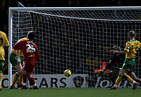 Matthew Spring scores the wining goal.<br /> Norwich City v Watford, Cocal Cola Championship, 21/01/06. Photo by Barry Bland