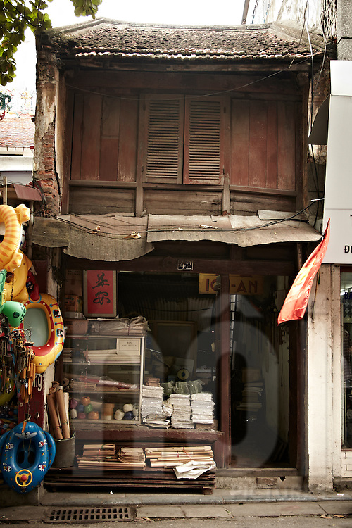 Old style house / shop in Hanoi. Vietnam, Asia