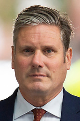 © Licensed to London News Pictures. 01/09/2019. London, UK. Shadow Secretary of State for Exiting the European Union Sir Keir Starmer arrives at the BBC. Later he will appear on the Andrew Marr Show. Photo credit: George Cracknell Wright/LNP