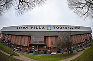 Wide angle view of the exterior of Villa Park  from Witton Lane (Doug Ellis Stand) during the The FA Cup 3rd round match between Aston Villa and Swansea City at Villa Park, Birmingham, England on 5 January 2019.