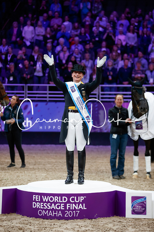 Werth Isabell, <br /> Grand Prix Freestyle<br /> Longines FEI World Cup Dressage, Omaha 2017 <br /> © Hippo Foto - Stefan Lafrentz<br /> 01/04/2017