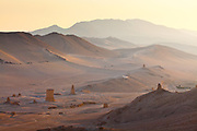 Valley of the Tombs, Palmyra, Syria. Ancient city in the desert that fell into disuse after the 16th century.
