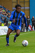 Gillingham FC defender Barry Fuller (12) during the EFL Sky Bet League 1 match between Gillingham and Peterborough United at the MEMS Priestfield Stadium, Gillingham, England on 22 September 2018. Picture by Martin Cole