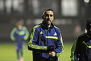 Chico Flores arrives at Swansea city FC team training in Landore, Swansea, South Wales on Wed 19th Feb 2014. the team are training ahead of tomorrow's UEFA Europa league match against Napoli.<br /> pic by Phil Rees, Andrew Orchard sports photography.
