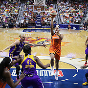 UNCASVILLE, CONNECTICUT- JULY 15:  Morgan Tuck #33 of the Connecticut Sun shoots for two during the Los Angeles Sparks Vs Connecticut Sun, WNBA regular season game at Mohegan Sun Arena on July 15, 2016 in Uncasville, Connecticut. (Photo by Tim Clayton/Corbis via Getty Images)