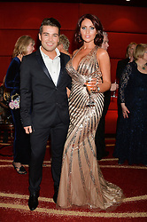 JOE McELDERRY and AMY CHILDS at the Soldiering On Awards held at the Park Plaza Hotel, Westminster Bridge, London on 5th April 2014.