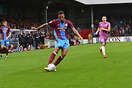 Scunthorpe United defender James Perch (14)  crosses ball during the EFL Sky Bet League 1 match between Scunthorpe United and Rochdale at Glanford Park, Scunthorpe, England on 8 September 2018. Photo Ian Lyall
