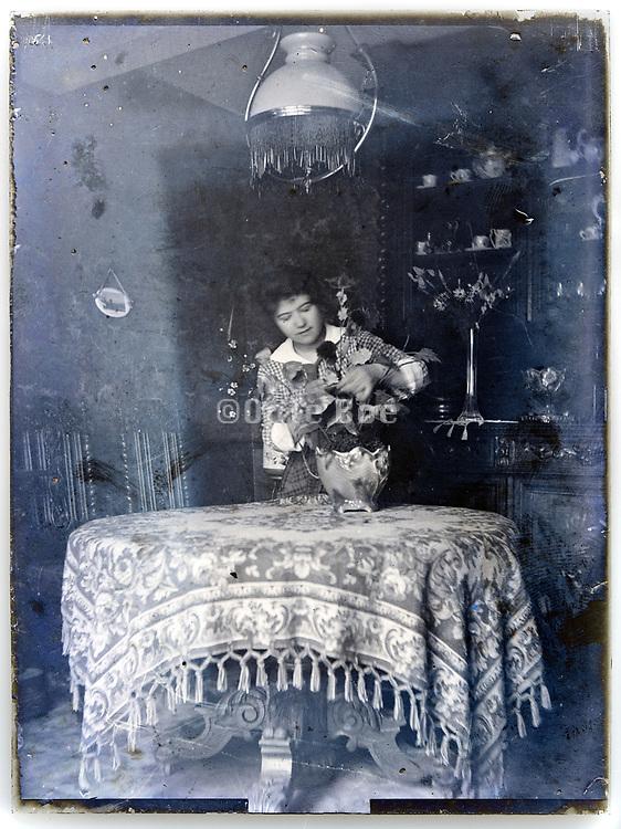 woman doing a flower arrangement  France, circa 1930s